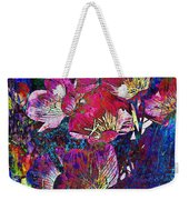 Pink Floral Abstract Weekender Tote Bag