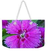 Pink Flower Miss You Weekender Tote Bag