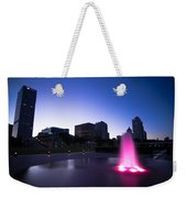 Pink Fountain Weekender Tote Bag