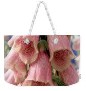 Pink Foxglove Weekender Tote Bag by Lainie Wrightson