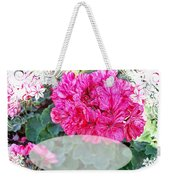 Pink Geranium Greeting Card Blank Weekender Tote Bag