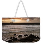 Pink Granite Coast At Sunset Weekender Tote Bag