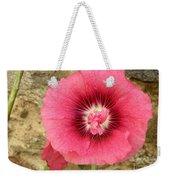 Pink Hollyhock 1 Weekender Tote Bag
