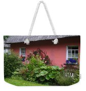 Pink Irish Cottage Weekender Tote Bag
