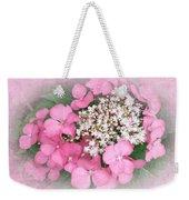 Pink Lace Cap Hydrangea Flowers Weekender Tote Bag