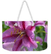 Pink Lily After The Rain Weekender Tote Bag