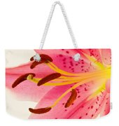 Pink Lily Square Version Weekender Tote Bag