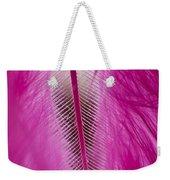 Pink Marabou Macro Weekender Tote Bag