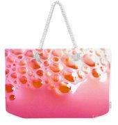 Pink Milk Bubbles Weekender Tote Bag