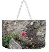 Pink Mountain Flower Weekender Tote Bag