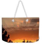 Pink Rays And Orange Skies Weekender Tote Bag