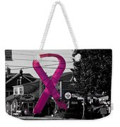 Pink Ribbon For Breast Cancer Awareness Weekender Tote Bag
