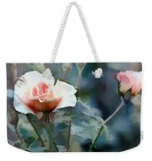 Pink Rose Bush Weekender Tote Bag