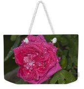 Pink Rose Wendy Cussons With Raindrops Weekender Tote Bag