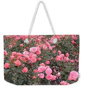 Pink Roses Canvas Weekender Tote Bag