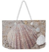 Pink Scallop Shell Weekender Tote Bag