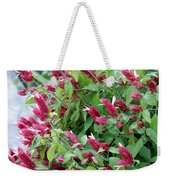 Pink Shrimp Plant Weekender Tote Bag