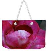 Pink Silk Weekender Tote Bag