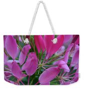 Pink Spider Flower Weekender Tote Bag