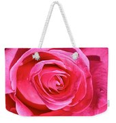 Pink Sunrise Rose Weekender Tote Bag