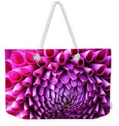 Pink To Purple Dahlia Weekender Tote Bag