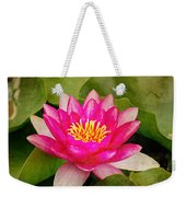 Pink Water Lilly Weekender Tote Bag