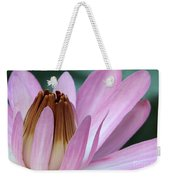 Pink Water Lily Macro Weekender Tote Bag by Sabrina L Ryan