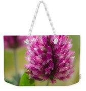 Pink Wildflower Weekender Tote Bag