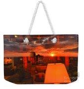 Pipestem Sunset Weekender Tote Bag