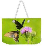 Pipevine Swallowtails In Tandem Weekender Tote Bag