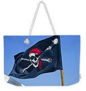 Pirate Flag Skull With Red Scarf Weekender Tote Bag