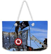 Pirate Ship With Target Weekender Tote Bag by Garry Gay