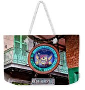 Pirates Alley Cafe Weekender Tote Bag by Bill Cannon