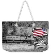 Pirates And Trains Black And White Weekender Tote Bag