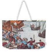 Pirates Burn Havana, 1555 Weekender Tote Bag by Photo Researchers