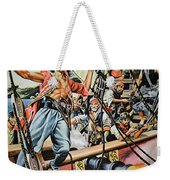 Pirates Preparing To Board A Victim Vessel  Weekender Tote Bag by American School