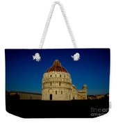 Pisa Tower And Baptistery Cathedral Weekender Tote Bag