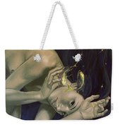 Pisces From Zodiac Series Weekender Tote Bag by Dorina  Costras