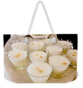 Pisco Sours Are Served By Peru Rail Weekender Tote Bag