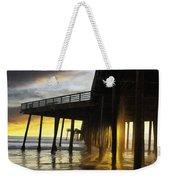 Pismo Pier Sunset IIi Weekender Tote Bag