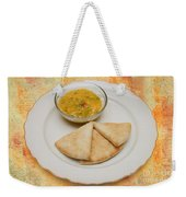 Pita With Brocoli Dip Weekender Tote Bag