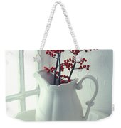 Pitcher With Red Berries  Weekender Tote Bag