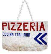 Pizzeria Advertising Sign Weekender Tote Bag