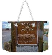 Plains Of San Agustin Weekender Tote Bag