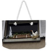 Plants And Animal Figures In The Balcony Of A Building In Lucern Weekender Tote Bag