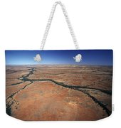 Plants Grow Along Desert River Drainage Weekender Tote Bag