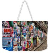 Plastered And Posted Weekender Tote Bag