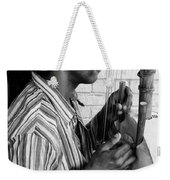 Playing The Koro - Black And White Weekender Tote Bag