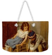 Playing With Kitty  Weekender Tote Bag