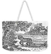 Ploughing, 19th Century Weekender Tote Bag